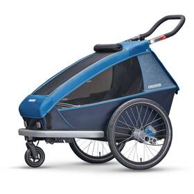 Croozer Kid Plus for 1 - Remorque vélo - gris/bleu